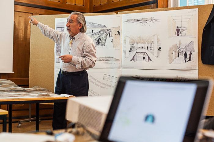 Discussione sulle prime bozze all'Università Tecnica di Monaco di Baviera