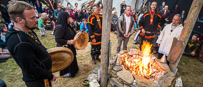 Al festival tradizionale dei Sami, Isogaisa, Norvegia